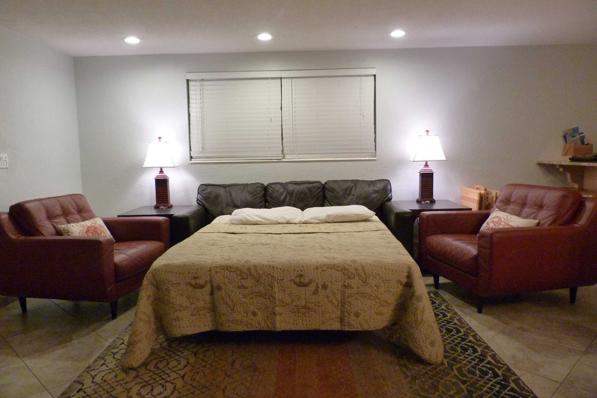 Sofa converts to a queen bed