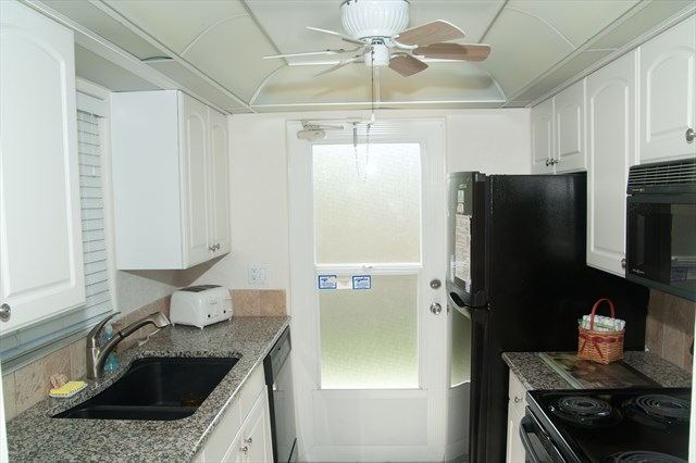 Lovely Kitchen Leading to the Patio