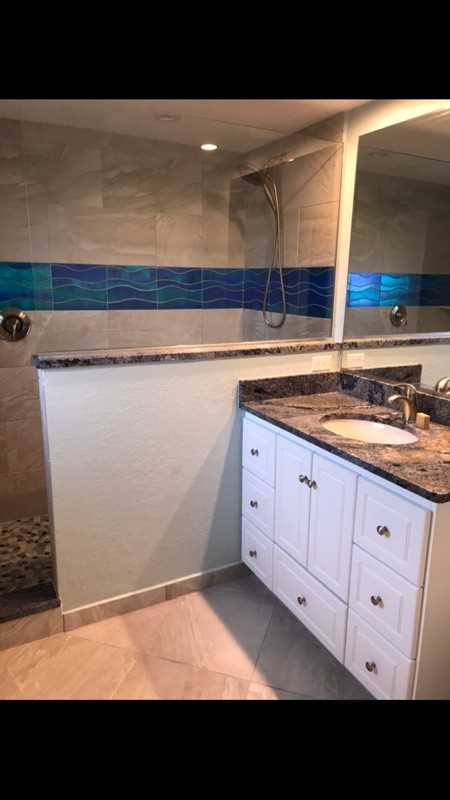 Hall bathroom with walk in shower