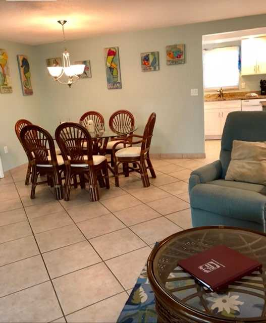 Open to dining room