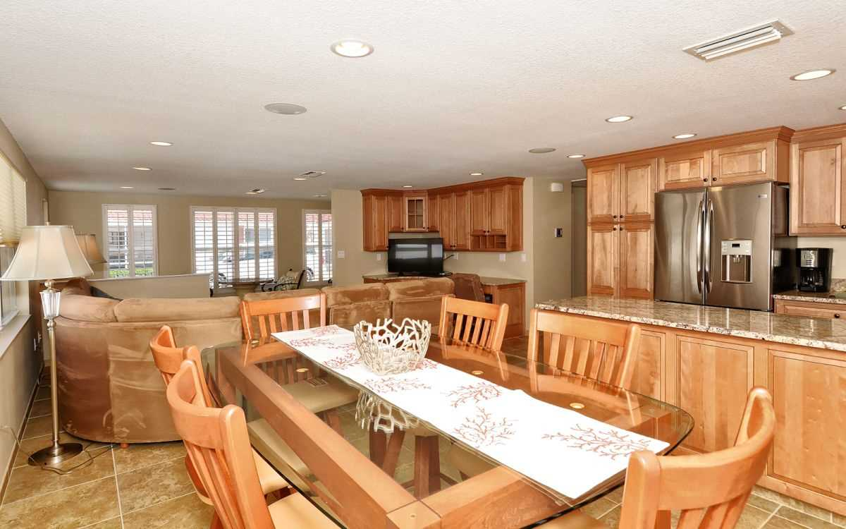 Dining space open to living and kitchen
