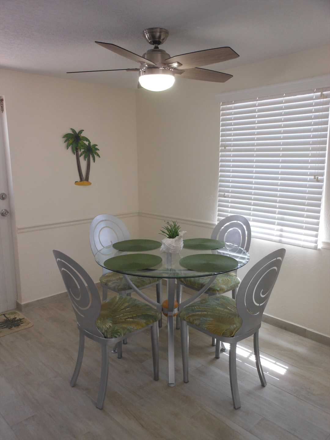 Dining Area with New Ceiling Fan